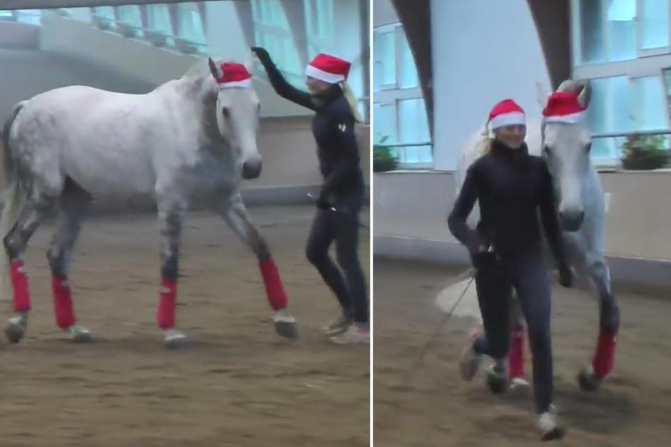 Från GPS-seger till tomteluva när Anna och Quattro säger god jul