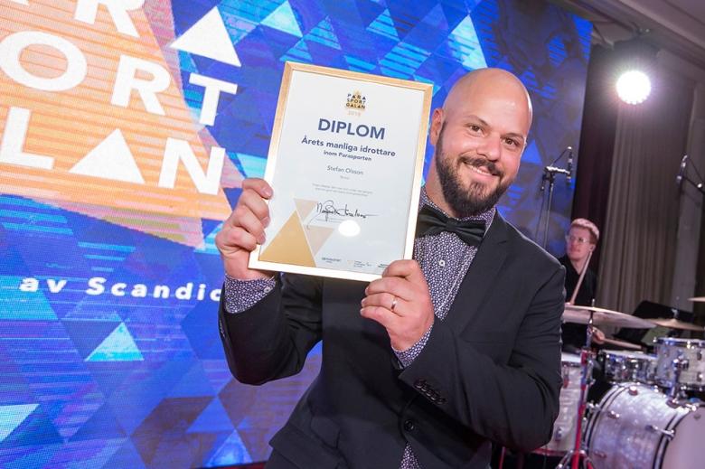 180128 Svenska Parasportgalan 2018 Stefan Olsson, Tennis vann Årets manliga parasportare. Photo: Roland Thunholm Code: 718 35