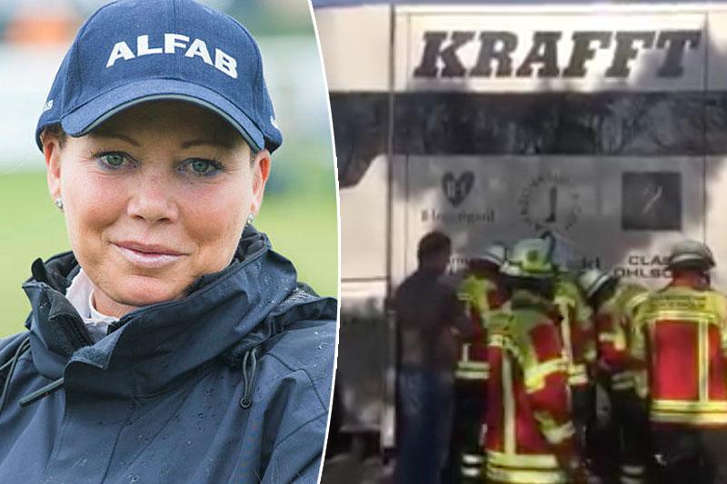 Branddrama på motorvägen för Charlotte Haid-Bondergaard