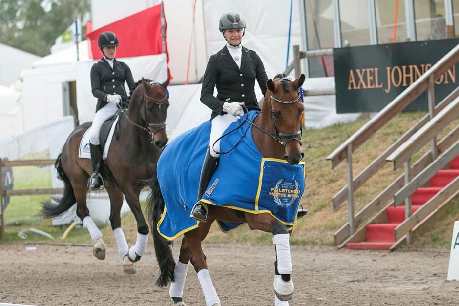 Karin Öljemark och Samson vann i Fagersta
