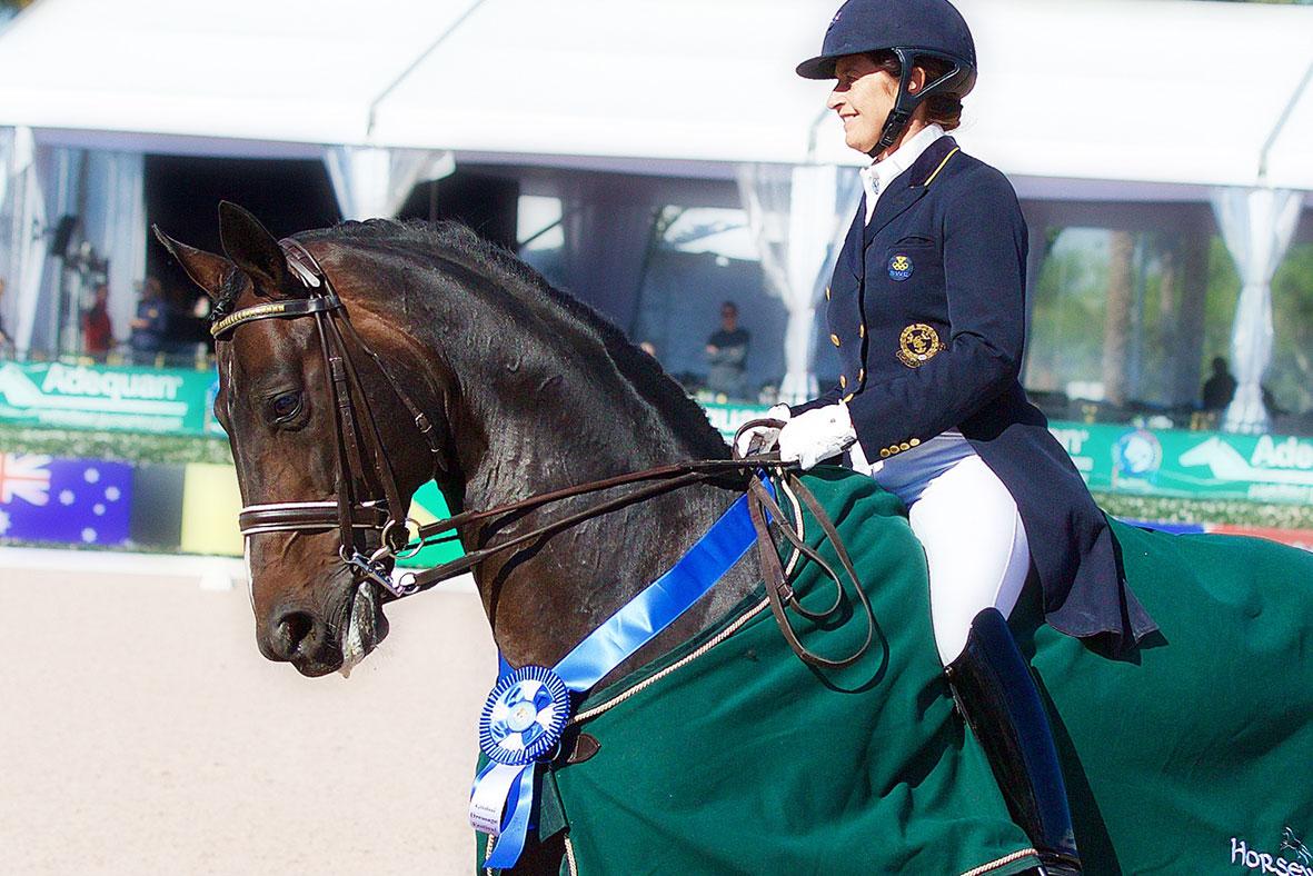 Tinne Vilhelmson-Silfvén och Benetton Dream FRH 1301 (HANN hingst f-04 e Brentano II-Rotspon)