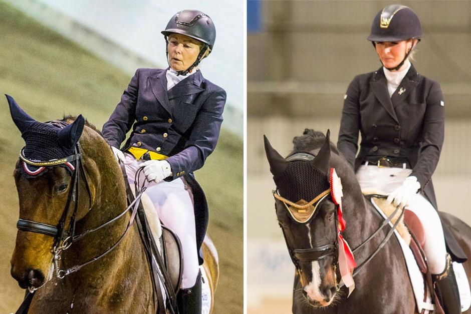 Gunilla Byström och Natalie Oldfors lördagens GP-vinnare