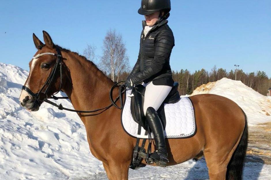 Helgens dressyrvinnare på ponny
