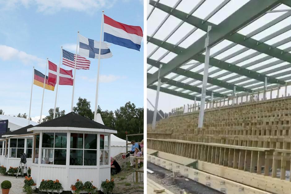 Mer tak i Falsterbo – se den nya läktaren växa fram