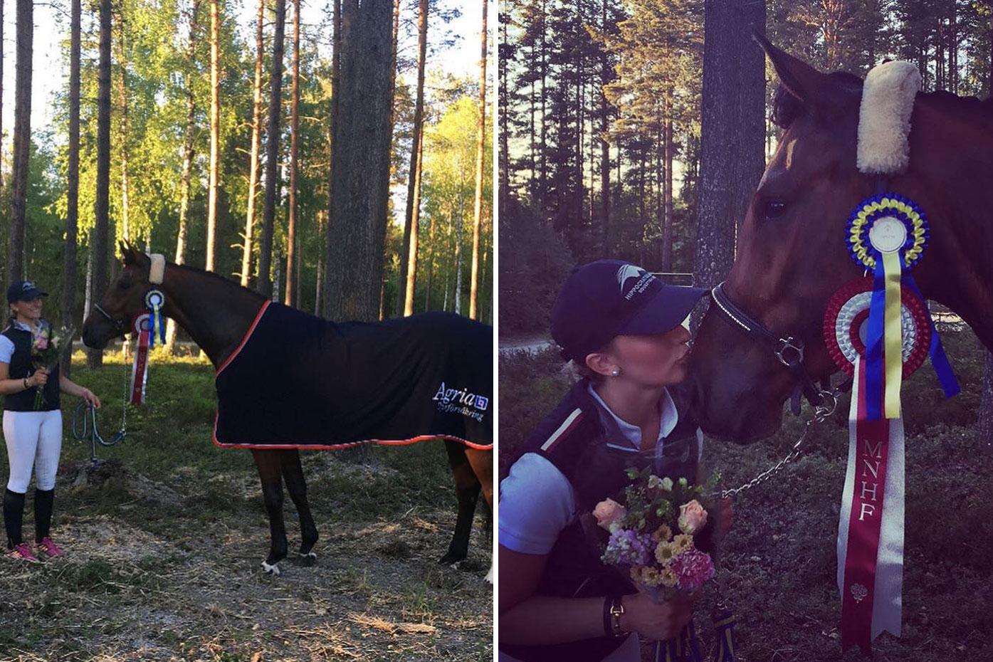 Maggie SWB sto 162 cm e Common Sense u Etoscha e Tolan R, uppf Stall Österlund, äg Cecilia, Emilia & Olivia Bergåkra. (8,5 8) = 81,7% diplom C