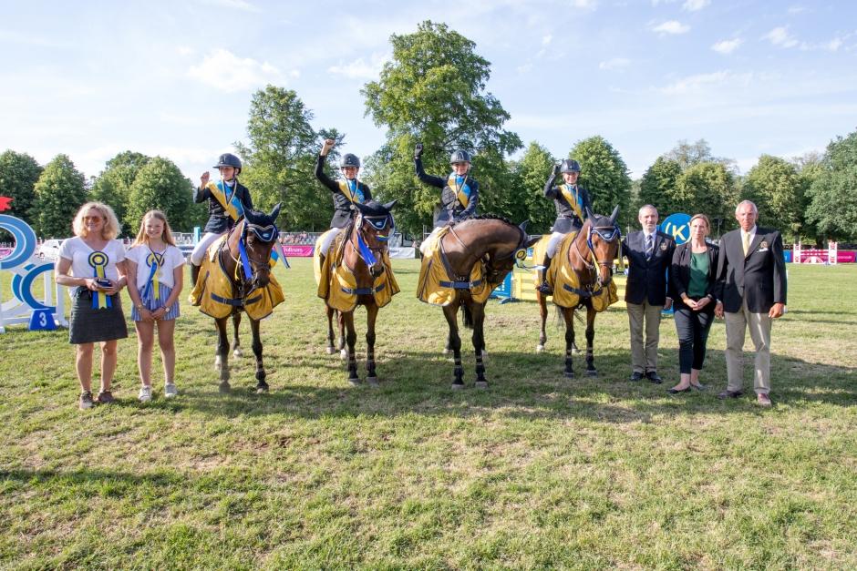 Guldrutinerat ponnylag vann SM-finalen