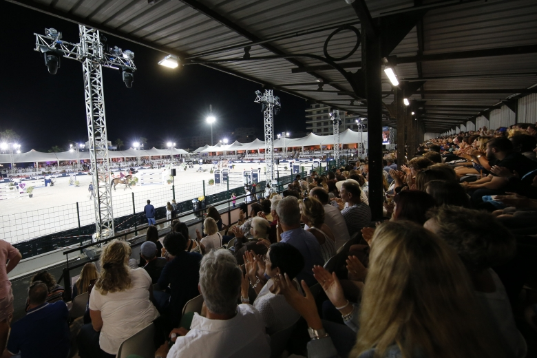 A View Of The Fully Packed Grandstand During The Lgct Grand Prix De La Ville De Cannes