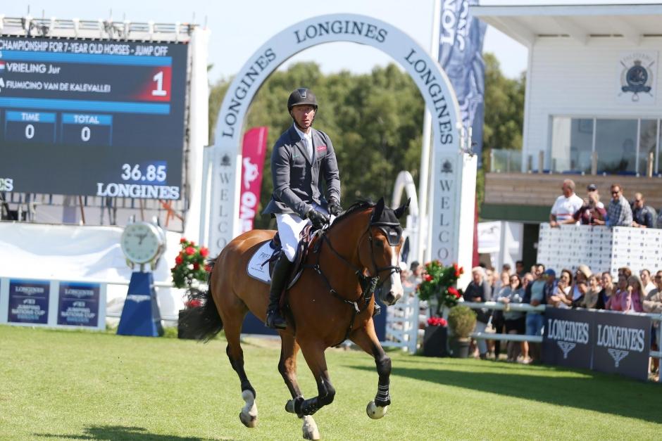 Bildbomb: Se alla hästar i hoppningens 7-årsfinal