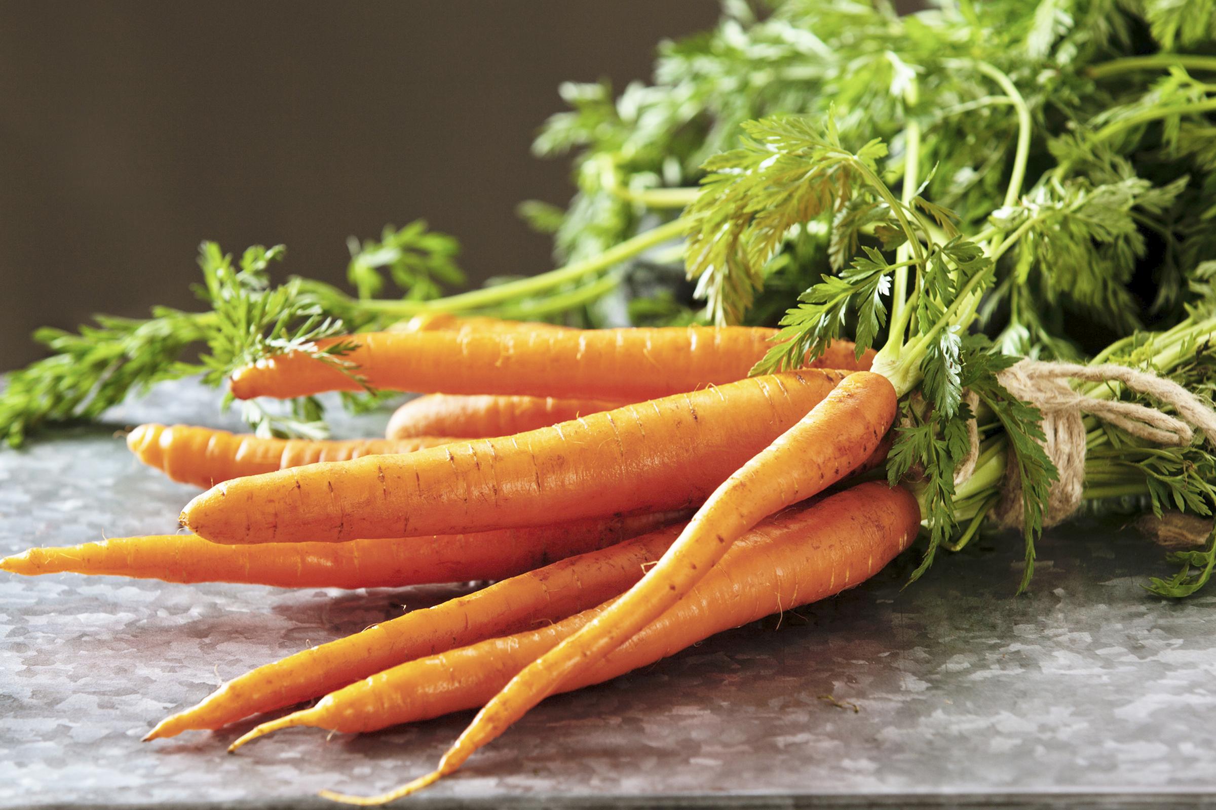 Heap Of Ripe Carrots.