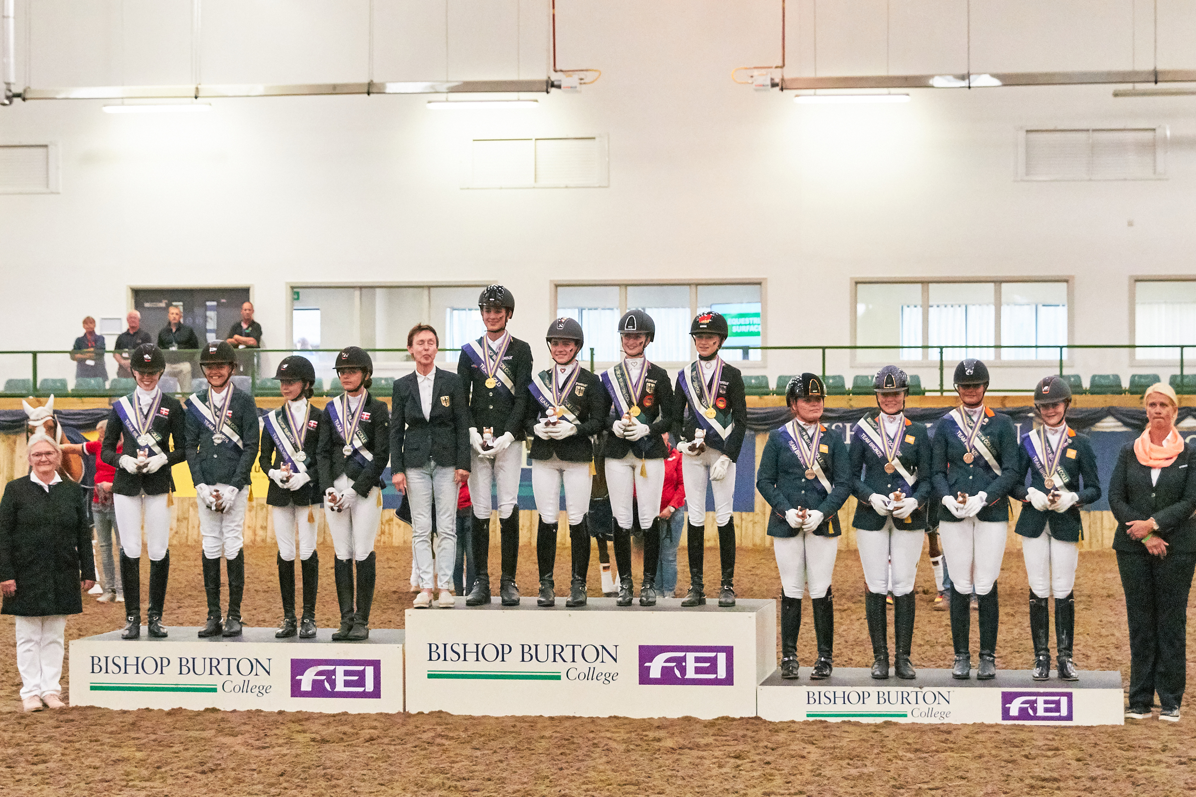 Podium Team Dressage Bishop Burton 2018