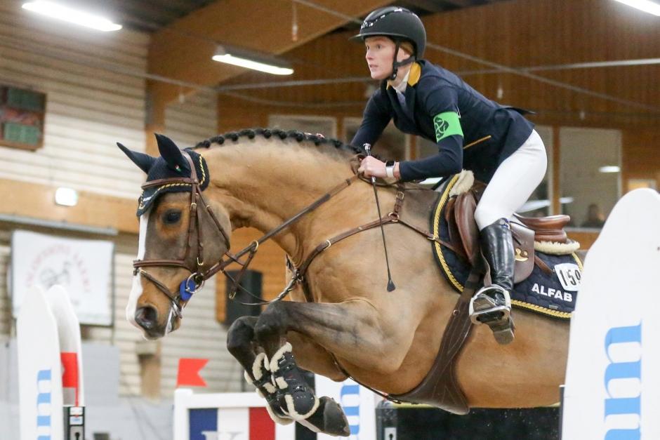 Mikaela Gustaphsons mästerskapshäst till svensk junior