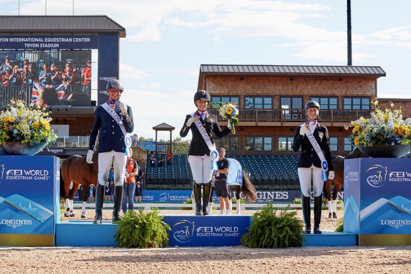 FEI World Equestrian Games™ Tryon USA FEI World Equestrian Games™; Frank Hosmar Sophie Wells Regine Mispelkamp; Grade 2; Grade 5; Individual Championship; Paradressage