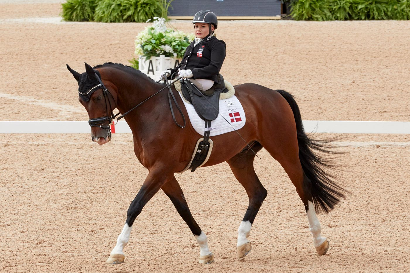 Denmark's Paralympian Stinna Tange Kaastrup with her mount Horsebo Smarties secures her first World Championship title at the FEI World Equestrian Games™ Tryon 2018. (FEI / Liz Gregg)
