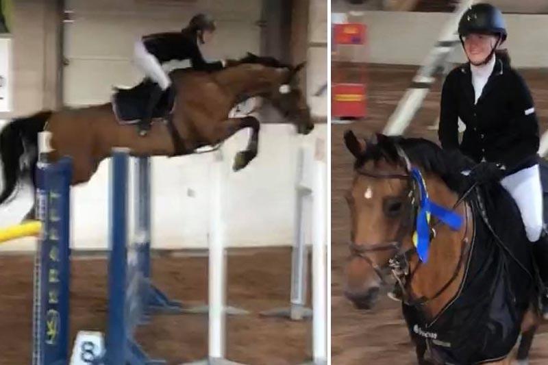 Oslagbar i ponnygalopp – nu vinner Sanna Lundin 1,45-hoppning