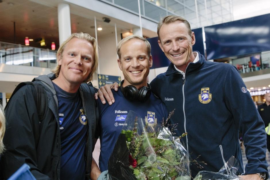 Klipp: SVT mötte silverskåningarna på Kastrup