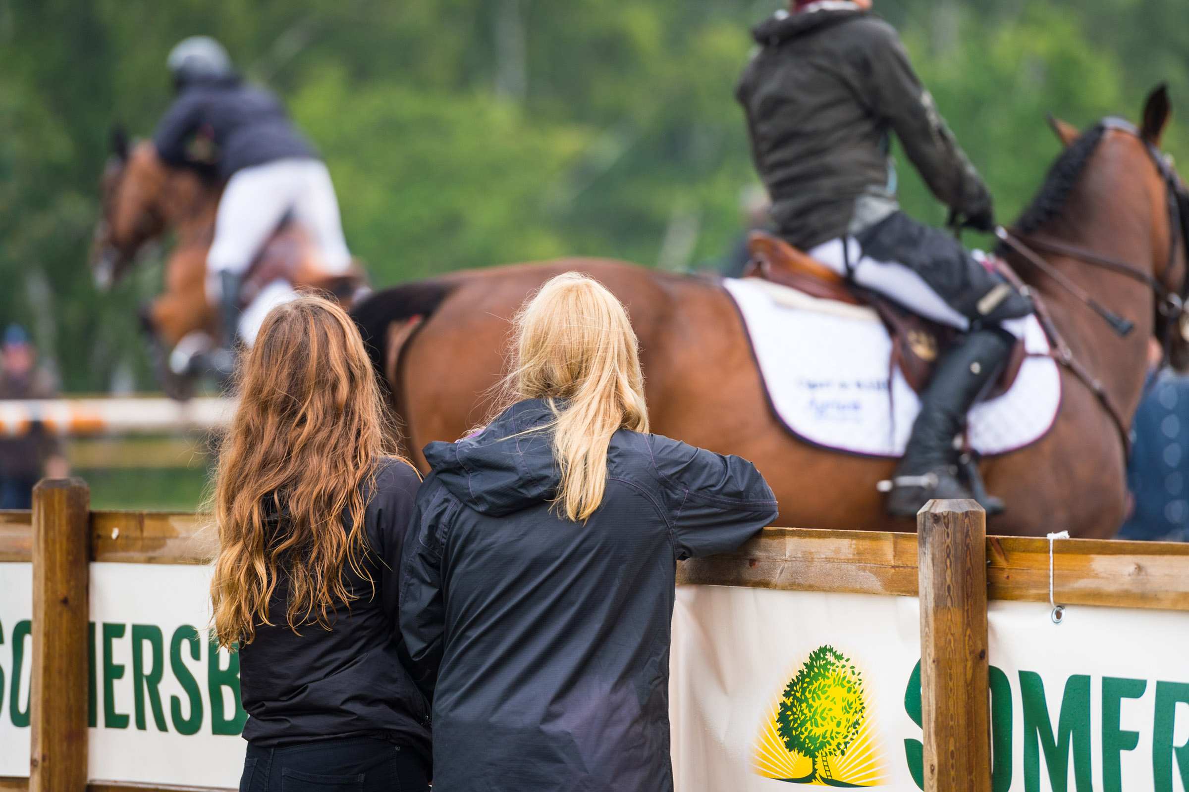 Girls Watching Warm Up At Falsterbo Horse Show