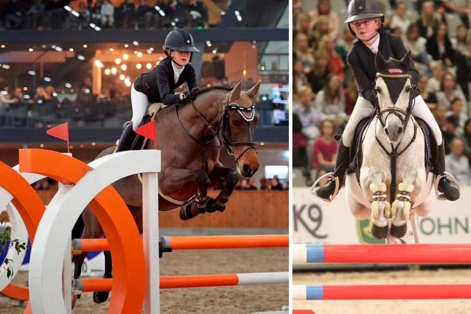 Linn Arvidsson rider internationellt på både B-ponny och stor häst