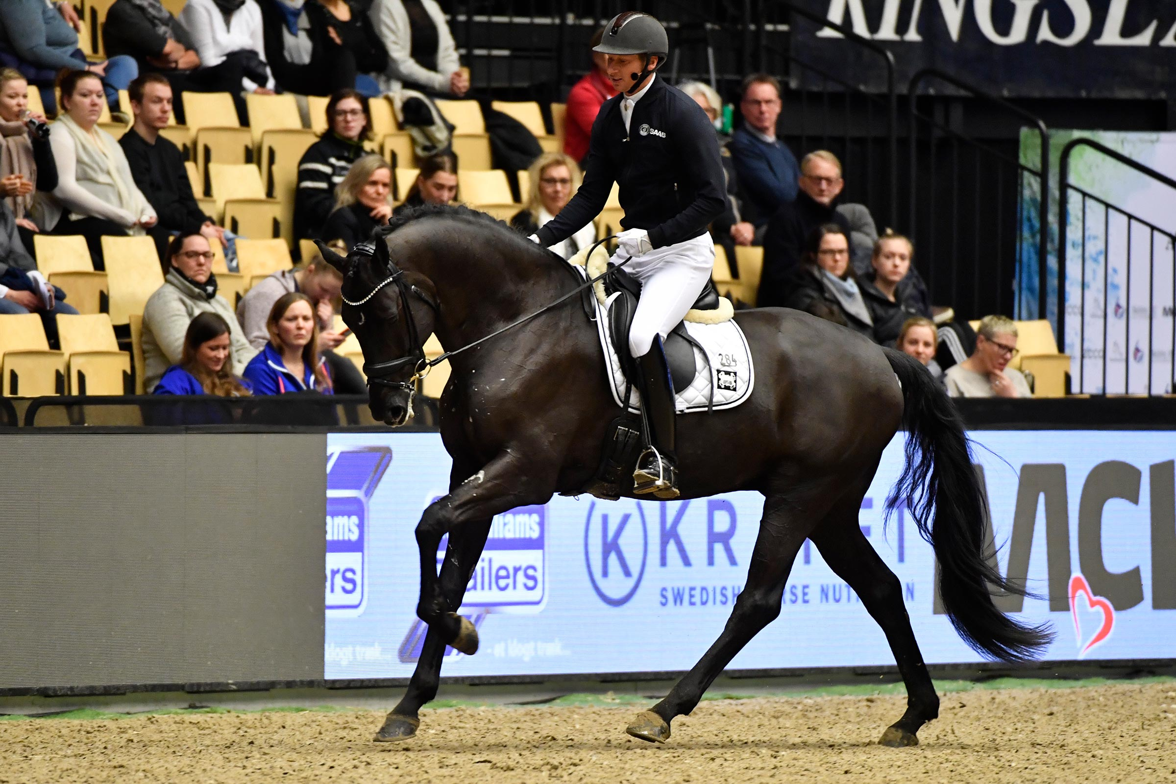 International dressage rider, Swedish Patrik Kittel was a very popular firs-time test rider in Herning last year.International dressage rider, Swedish Patrik Kittel was a very popular firs-time test rider in Herning last year.