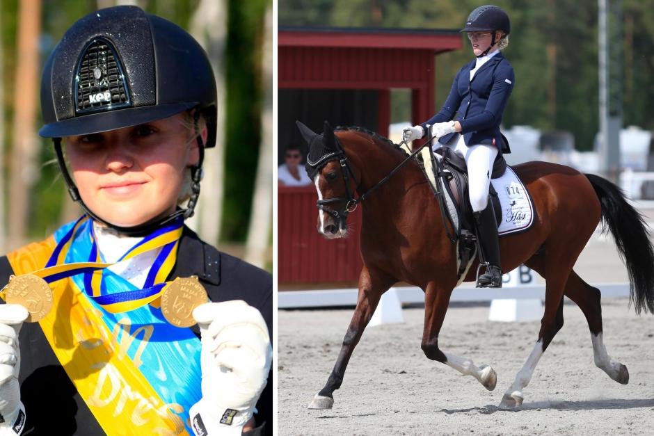 Kelly och Tilde vann hos Hästhagen