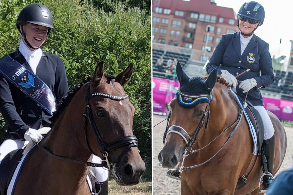Placeringar och vinster till de svenska ryttarna i Norge