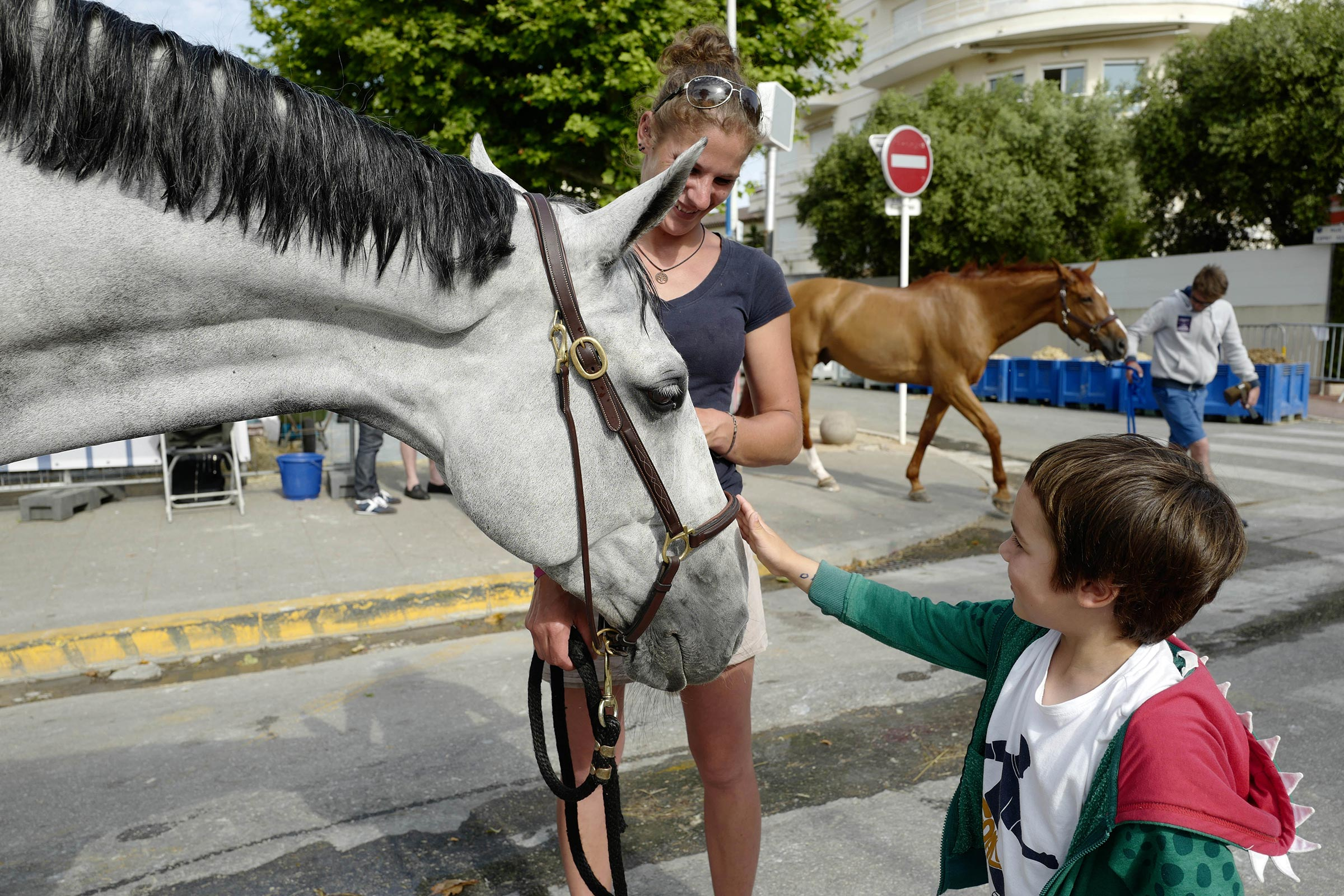 Families with children familiarise with horses behind the scenes ph.Stefano Grasso/LGCT CANNES 2019 DOWNLOAD