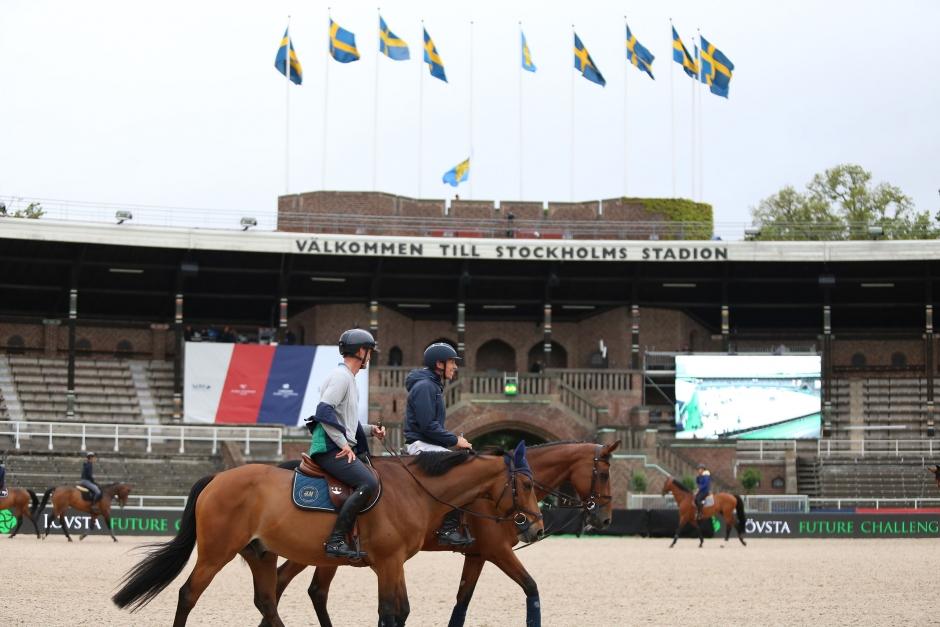 Bildbomb: Ryttarna har intagit Stockholms Stadion
