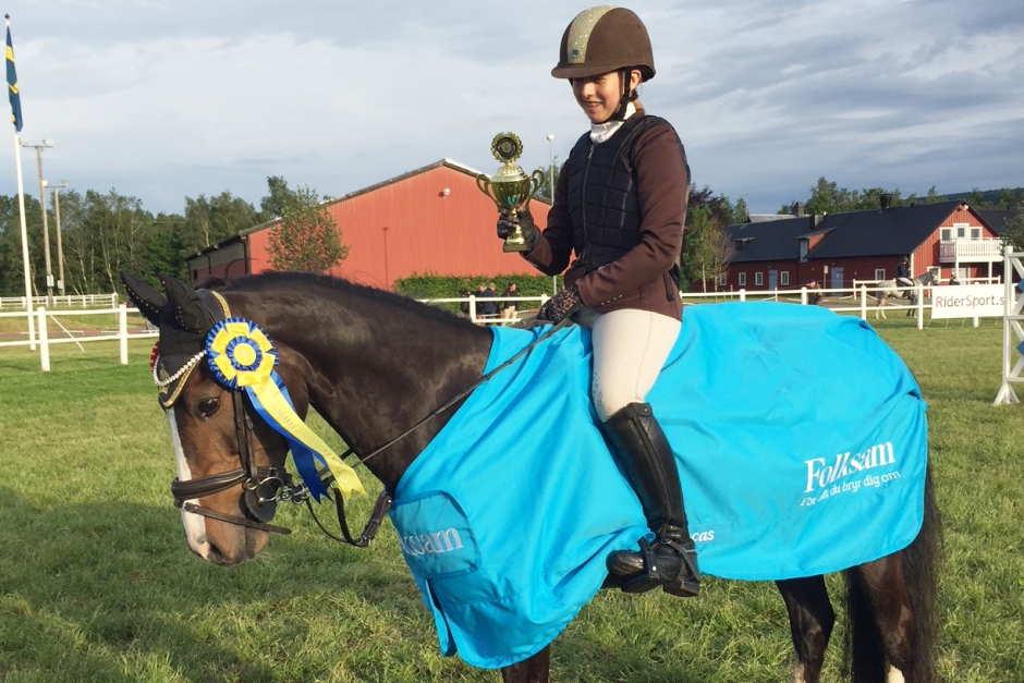 Ett steg närmare SM för ponnyryttare i Båstad