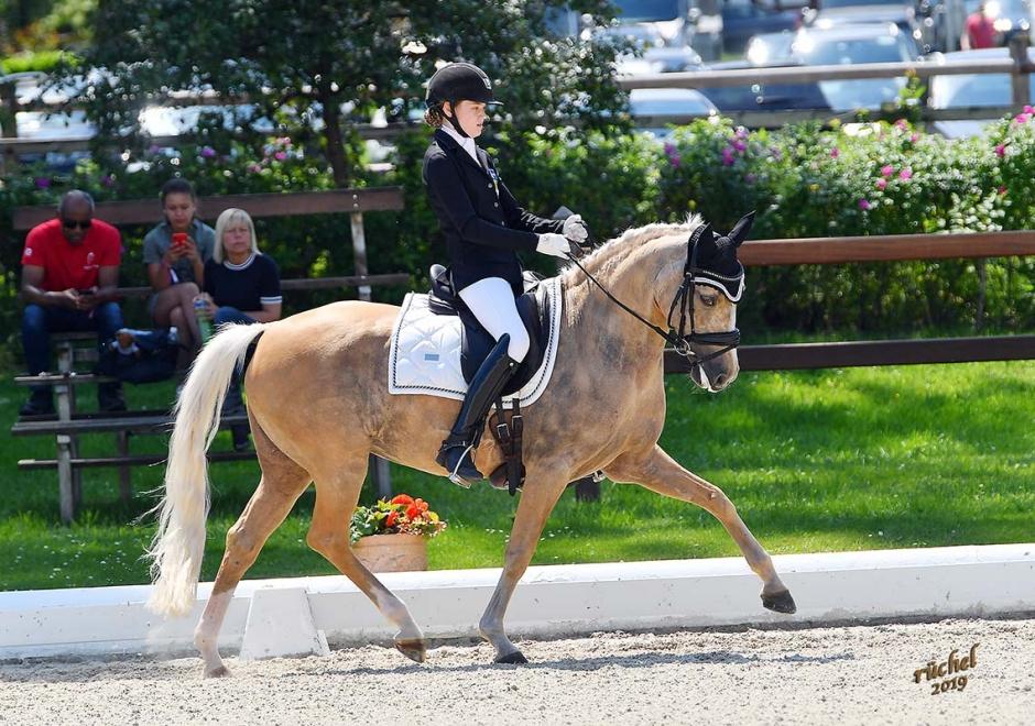 Pallplacering för ponnyryttare i Hagen
