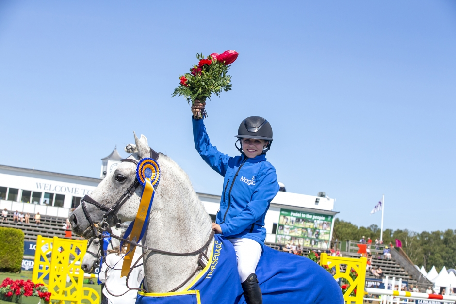 Fjärde gången gillt för Mathilda Bohlin i ponnyernas GP