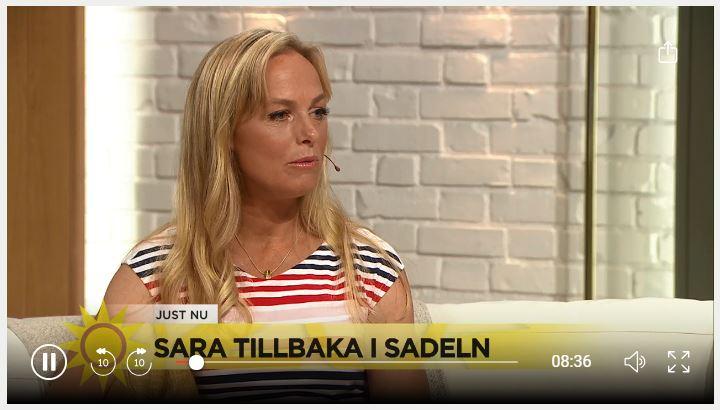 Sara Algotsson Ostholt gästade TV4