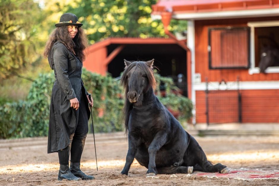 """Konstnären Susanne Demåne: """"Jag anpassar mig  alltid efter hästarna"""""""