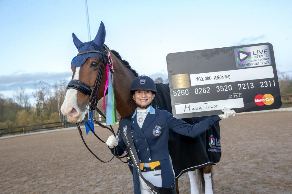 Minna Telde vann 100000 genom seger i Linköping