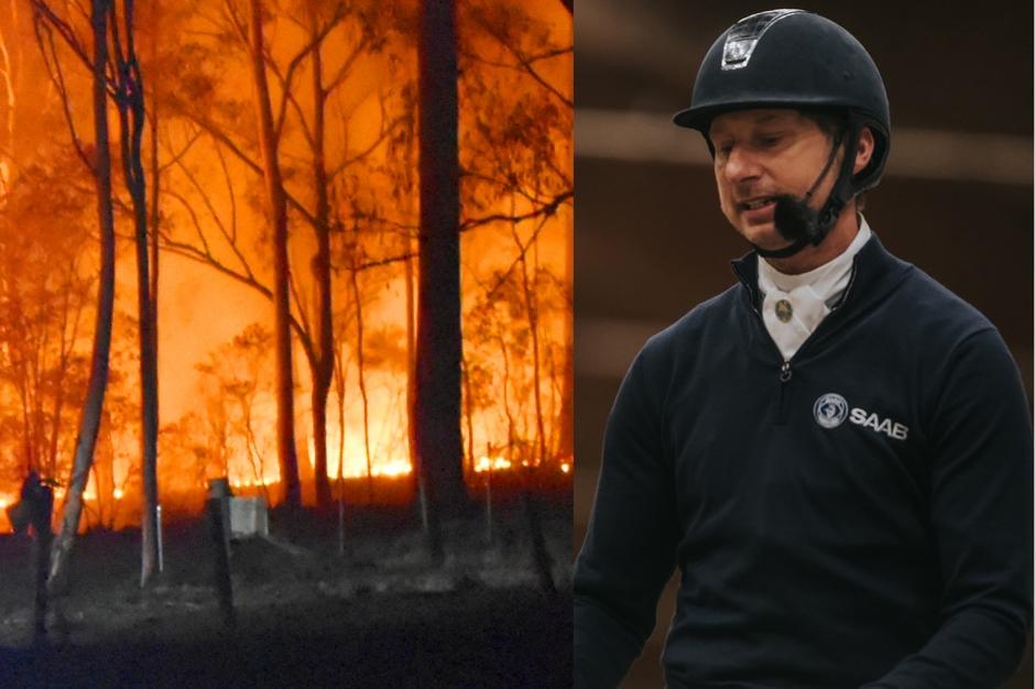 Patrik Kittel hjälper branddrabbade hästar