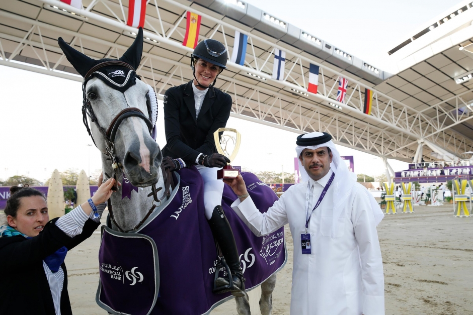 Speedseger till Annika Axelsson i Doha