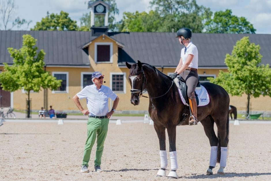 """Christoph Hess: """"Väldigt nöjd med hur de svenska ryttarna har tränat sina hästar"""""""