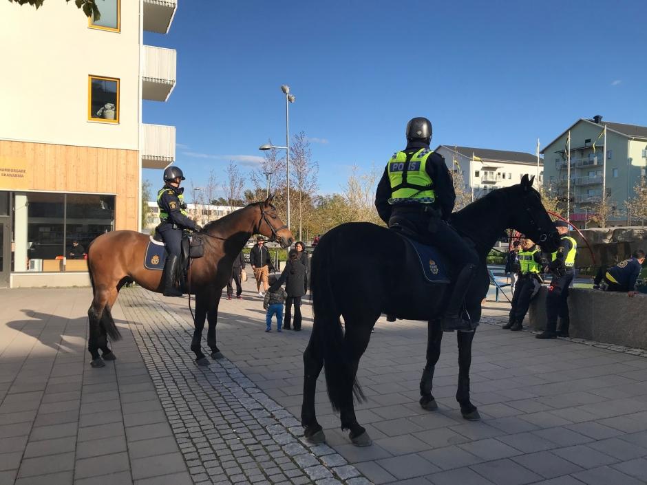 """Polisbloggen: """"Alla vill prata med hästarna"""""""