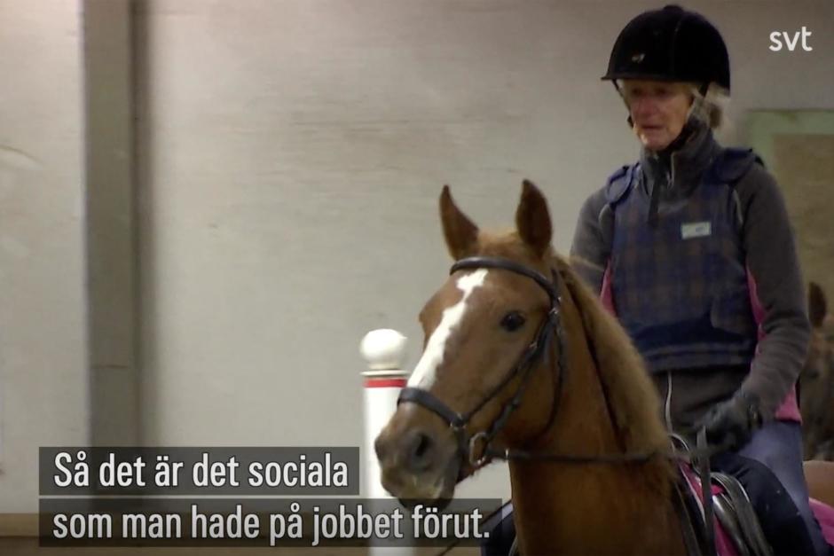 """Kolla klippet: """"Tiden med hästarna och det sociala betyder allt"""""""