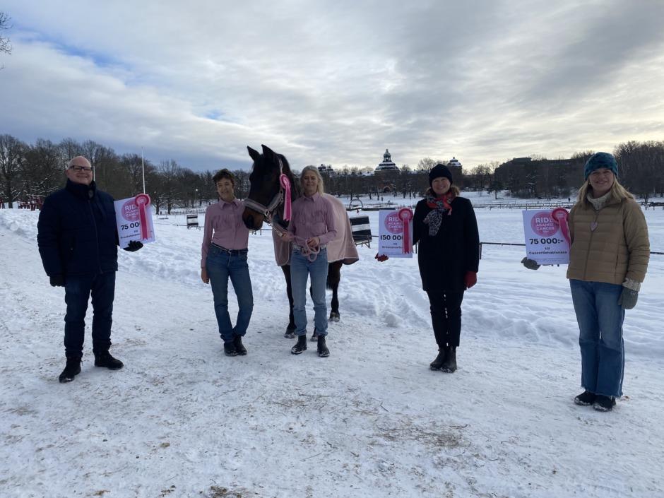 Ride against cancer har delat ut årets insamlingspott