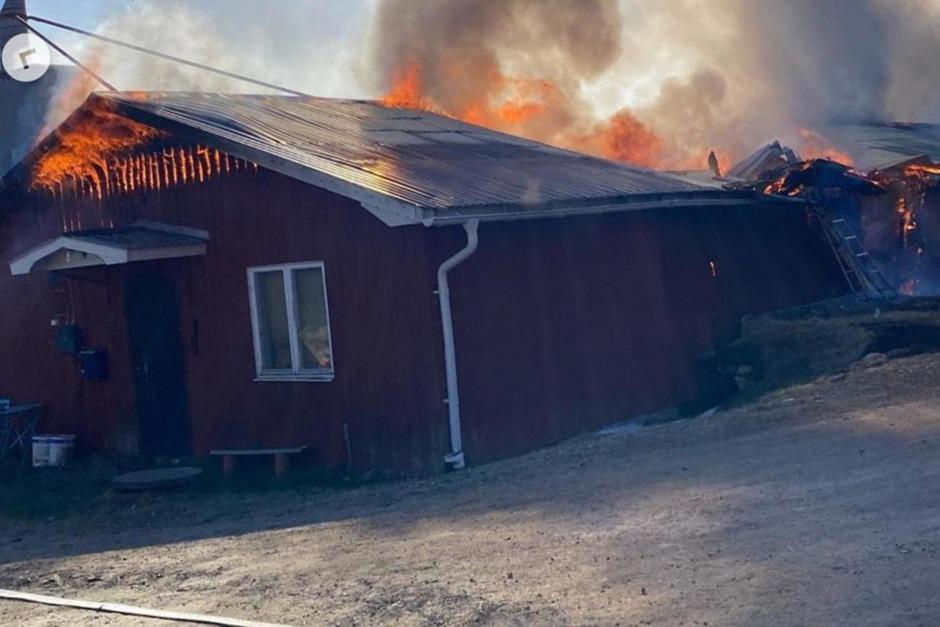 Storbrand hos familjen Bergåkra