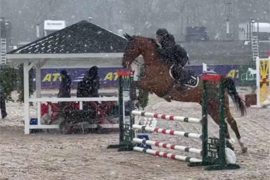 Kolla klippet: Tävlingsdebut i snöyran