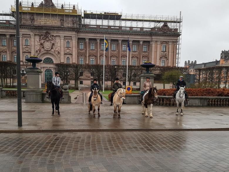 Utanför Riksdagshuset