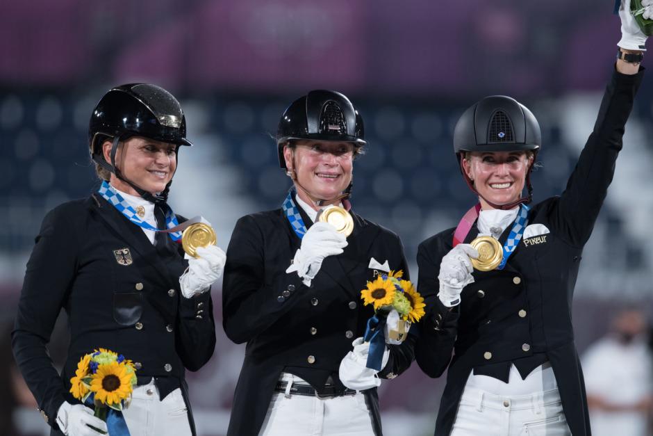 Tyskland fortsätter sitt olympiska segertåg i dressyr