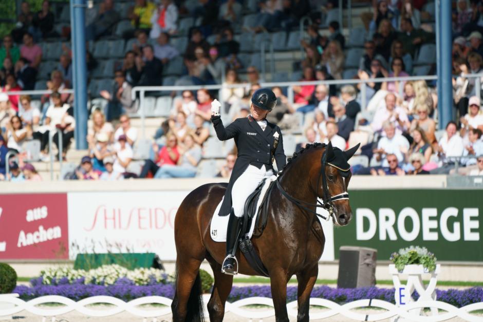 Isabell Werth fick topprocent – Patrik Kittel kürfyra i Aachen