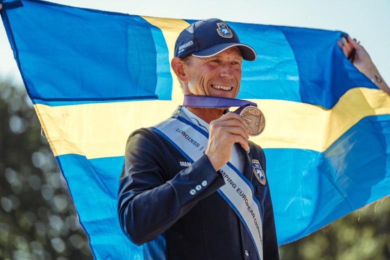 Peder Fredricson Med Medalj Foto Fei Christophe Taniere