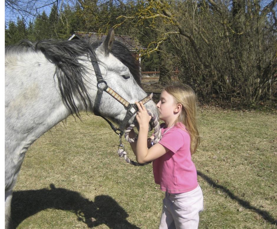 Hästar gör barn lyckliga