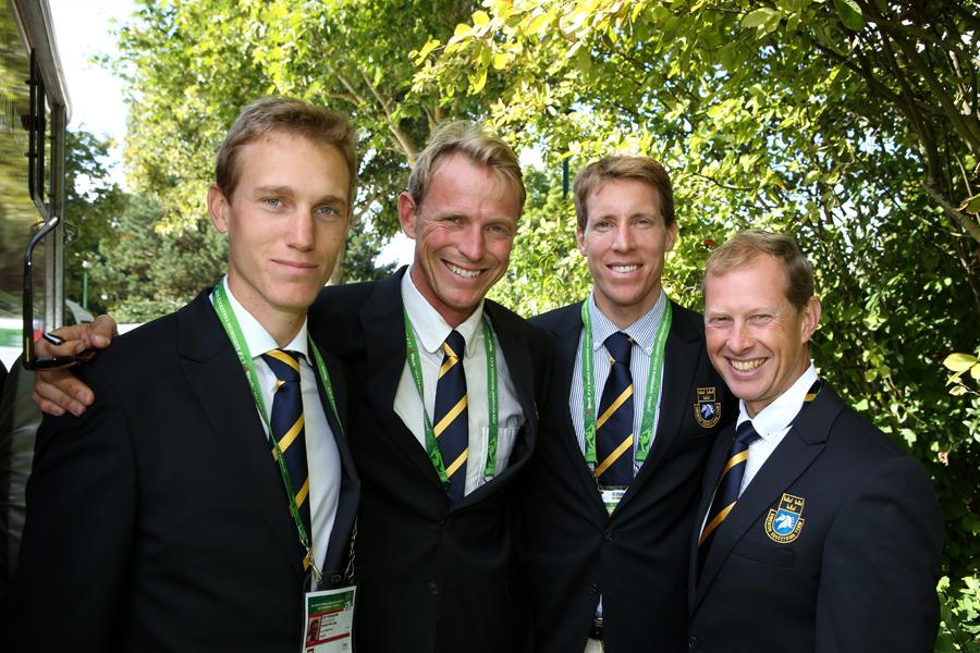 Alexander Zetterman, Peder Fredricson, Henrik von Eckermann och Rolf-Göran Bengtsson är på plats i Caen.