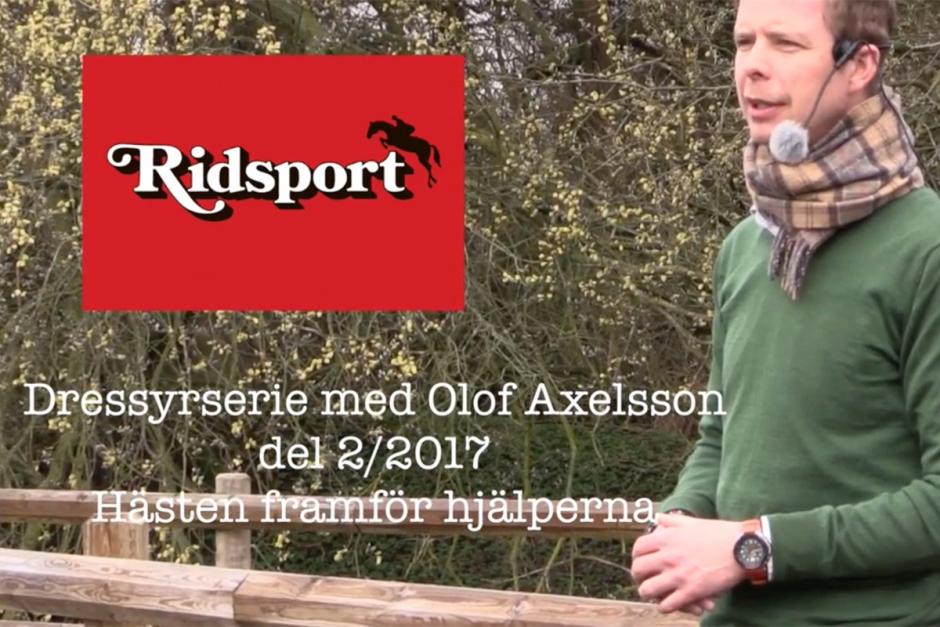 Olof Axelsson visar hur du får hästen framför skänkeln
