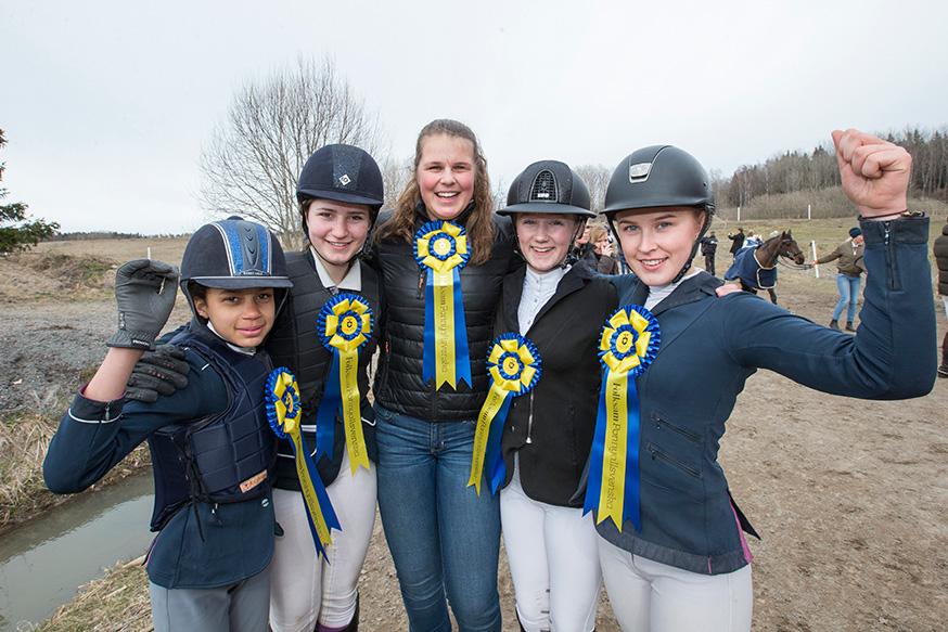 Fem vinnarlag i andra omgången av ponnyallsvenskan