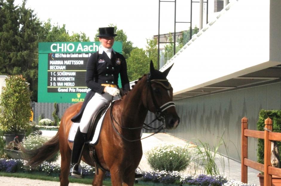 Marina på pallen i Aachen