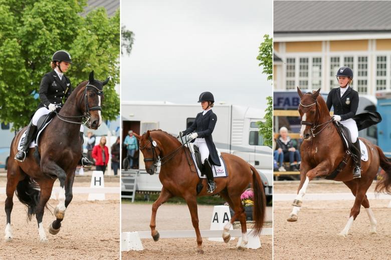 Josefin Gyllenswärd utmanas av Mathilde Hannell och Lina Jönsson i morgondagens final samt sju hungriga ryttare till.